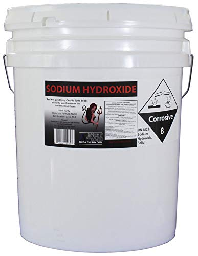 50 lb Red Hot Devil Lye Sodium Hydroxide Meets Food Chemical Codex High Grade Caustic Soda Beads