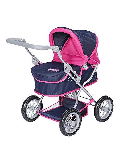 KNORRTOYS.COM First-Flying Hearts 63433 - Cochecito para muñecas, Color Azul y Rosa