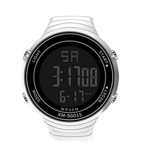 Armbanduhren männer Herrenuhr mit Datum Funktion Herren Männer Analog Digital Military Sport LED Wasserdichte Armbanduhr Neu Armbanduhr Uhren Armbanduhren Herrenarmbanduh Weiß 3776