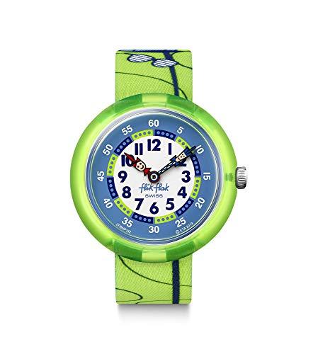 Flik Flak Unisex Analog Schweizer Quarz Uhr mit Textil Armband FBNP152