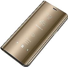 Emlivi Compatibel met Samsung A10 hoes leer flip case case spiegel telefoonhoes voor Samsung Galaxy A10 beschermhoes anti-...
