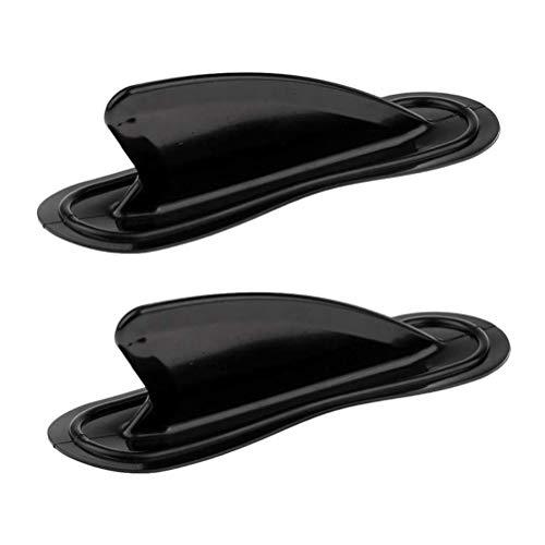 Kousa 2 tablas de surf para tabla de surf con aleta de cola de timón rota de agua de plástico estabilizado, accesorios de PVC, color negro