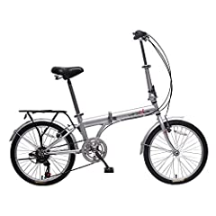 """20 - inch folding bicycle designed for commuting and exercising. Shimano 6 speed shifter and derailleur. semi-alloy front and rear V-brake. WANDA 20"""" x 1.75 tires Quick removable front handle stem. with alloy silver color cap & PVC black bell. Easy a..."""