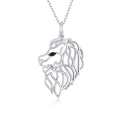 Waysles Lion Necklace Lion Celtic Knot Pendant 925 Sterling Silver Animal Jewelry Gift for Women/Girls/Teens Birthday with Packing Box