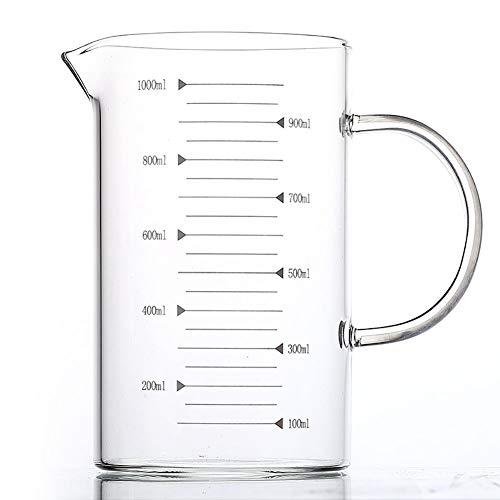 1000ML Vaso Medidor de Vidrio