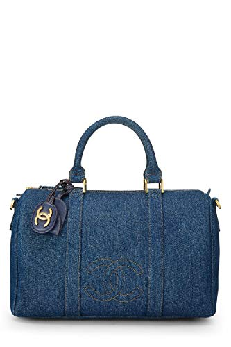 CHANEL Blue Denim Boston Large (Renewed)