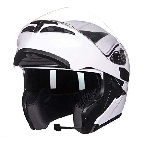 Casque moto hommes et femmes casque de moto anti-buée (Couleur : A-Xxl(62-63cm))