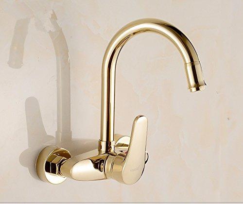 Waterkraan voor keuken, waterkraan, waterkraan, waterkraan voor keuken, keukenarmatuur, waterkraan, keukenarmatuur, waterkraan, keukenkraan, keukenkraan uit de keuken Dell'Gold warm en koud door de muur in de stijl van Europeo A2.