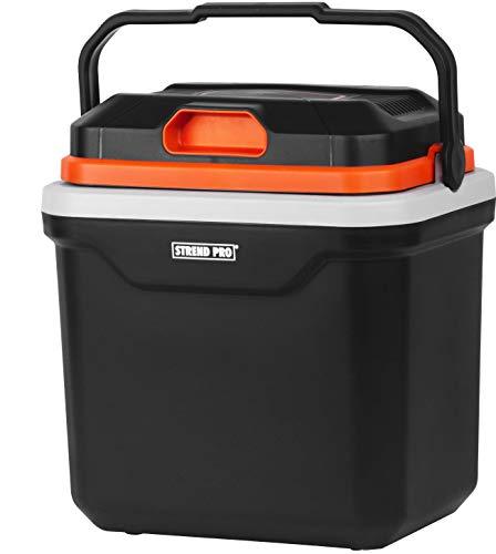 STREND PRO Elektrische Kühlbox 12v 230v 24L für das Auto und Camping, Kühlt und Wärmt-Funktion, SMART PUR Isolierung, Kompressor Kühlschrank/Kühltasche mit ECO Mode - geräuscharm und leicht