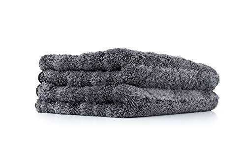 The Rag Company - The Gauntlet Microfiber Drying Towel - 15in x 24in - Grey (2-Pack)