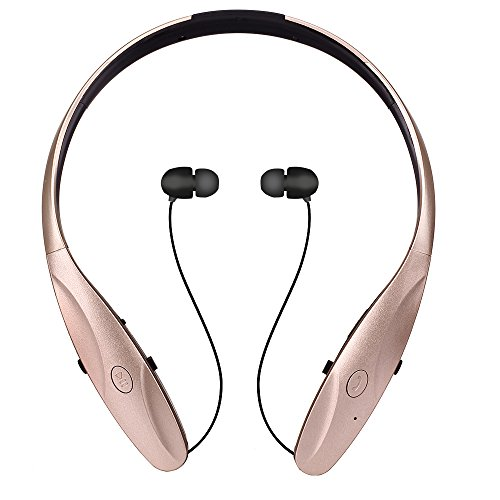 Wireless Bluetooth 4.1 Headset,Osten Design Retractable Neckband Style In-Ear Sport Headphone with M - http://coolthings.us