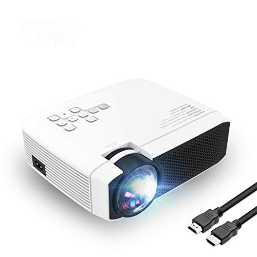 """Projector Video Projector Support 1080P HD 180"""" Big Screen Upgraded +60% Brighter Home Cinema Portable Projector with HDMI/USB/SD/AV/VGA Input for Mac/PC/TV/Movies/Games"""
