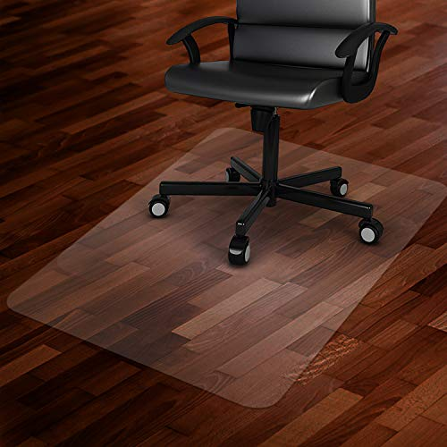 """Azadx Office Chair Mat for Hard Floors 48 X 59, Clear PVC Hardwood Floor Mat, Durable Plastic Floor Protector for Home and Office use (48"""" X 59"""" Rectangle)"""