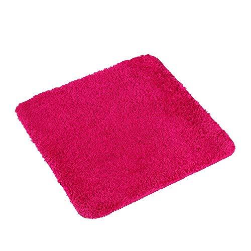PANA Flauschiger WC Vorleger OHNE Ausschnitt • Badematte in versch. Farben und Größen • Badteppich aus weichen Mikrofasern - rutschfest & waschbar 45 x 45 cm • Farbe: Fuchsia