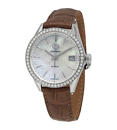 Tag Heuer Diamond Carrera (Calibre 5) 36mm Reloj para mujer