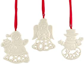 Lenox Holiday Greetings, Christmas Ornaments, Set of 3