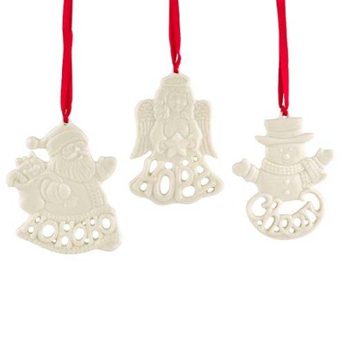 Lenox Holiday Greetings, Christmas Ornaments, Set of 3