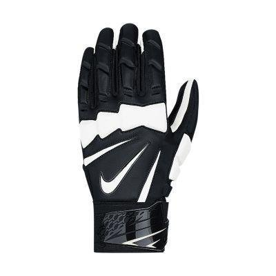 Nike Hyperbeast 2.0 Adult Leather Lineman Gloves (Black/White, 4XL)