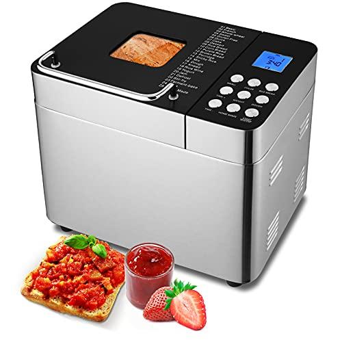 Bread Maker Machine Small 2 Lb, 25-In-1 Bread Dough Maker, Bread Machine With Nonstick Ceramic Pan, Mochi Maker, Smart Digital Touch Panel, Programmable, 25 Settings And Gluten Free