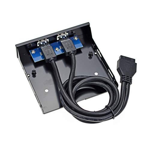 Preisvergleich Produktbild CplaplI Diskettenlaufwerk-Erweiterungskarte PCI Express 19 / 20 Pin auf Dual USB 3.0