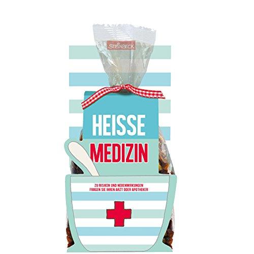 STEINBECK Früchtetee Gute Besserung 50g Tee Heiße Medizin - zu Risiken und Nebenwirkungen fragen sie ihren Arzt oder Apotheker Geschenk Schutzengel Gesundheit Krankheit süß Mitgebsel Erkältung