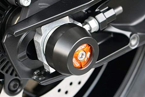GSG-Moto Sturzpads Hinterrad passend für die KTM Duke 790 mit orangem Inlay ab 2018