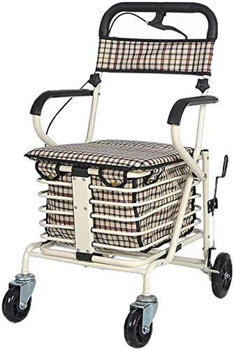BBG Multifunzione carrelli a mano portatile Carrello spesa, Terza Trolley Scooter può essere spinto a prendere una quattro ruote leggero pieghevole piccolo carrello, Bearing Circa 130kg a mano Trucks