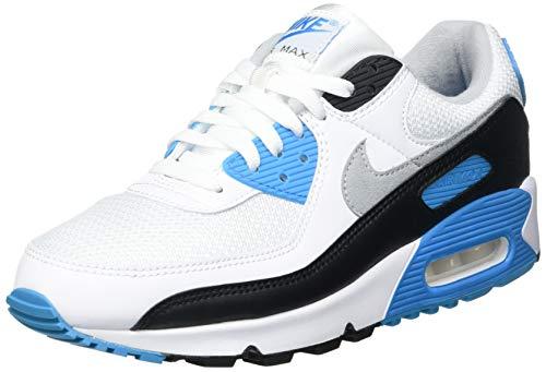 Nike Air MAX III, Zapatillas para Correr Hombre, White Black Grey Fog Laser Blue, 42.5 EU