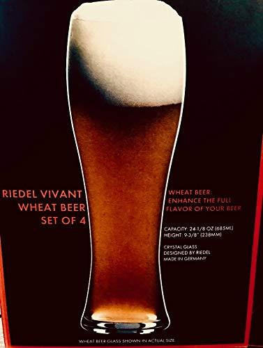 Riedel Vivant Beer Glasses Set of 4