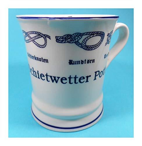 Schietwetter Pott Tasse 10 x 9,5 cm Ebbe Flut Knoten Becher Kaffeetasse Kaffeebecher Deko GPT 85323