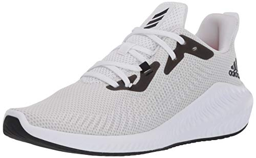 adidas Men's Alphabounce+ Running Shoe, FTWR White/core Black/Grey, 10.5
