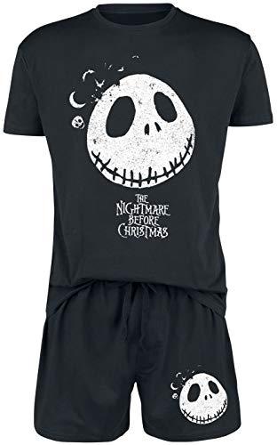 The Nightmare Before Christmas Pesadilla Antes De Navidad Jack Hombre Pijama Negro M, 100% algodón,