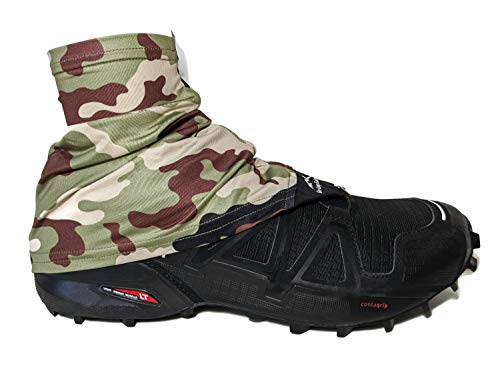 Wapiti Designs Go-Long Gaiters Trail Running Shoe Gaiters for Running, Hiking, or Long Distance Backpacking (Camo, L/XL)