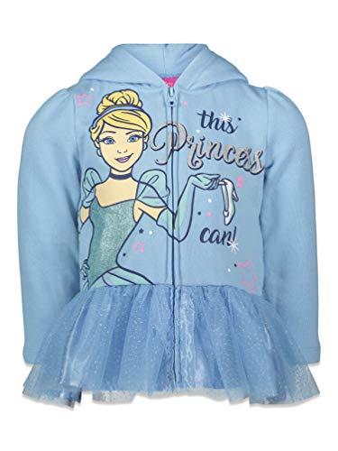 Disney Princess Cinderella Big Girls Zip-Up Ruffled Sleeves Costume Hoodie 10-12
