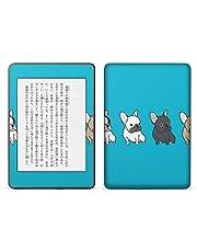 igsticker kindle paperwhite 第4世代 専用スキンシール キンドル ペーパーホワイト タブレット 電子書籍 裏表2枚セット カバー 保護 フィルム ステッカー 016446 犬 イラスト 動物