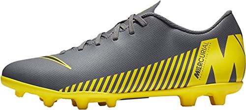Nike Unisex Vapor 12 Club MG Fußballschuhe, Grau Dark Grey Black Opti Yellow 070, 41 1/3 EU