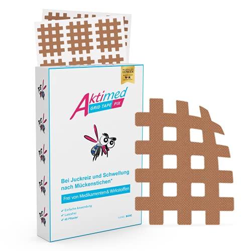 Aktimed PIX Mückenpflaster (45 Stück) - Perfekt nach Mückenstichen - Ideal auch für Kinder - Juckreiz, Stechmücken, Bremsen, Bienen, Schnaken, Moskito - Einfach auf Insektenstiche kleben