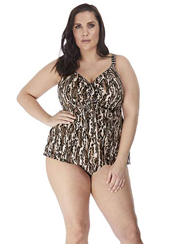 Elomi Womens Fierce Moulded Tankini with Adjustable Neckline, 26, Black