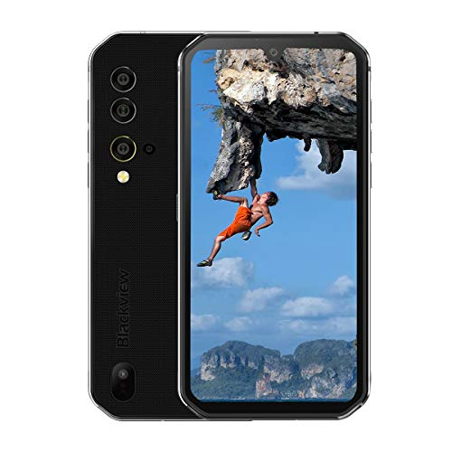 Blackview BV9900 IP68 Smartphone Resistente - 48MP+16MP Cámara, Helio P90 8GB RAM 256GB ROM, Android 9.0 IP68 Móvil Antigolpes Impermeable,Batería 4380mAh,Carga Inalámbrica NFC GPS Dual SIM Plata