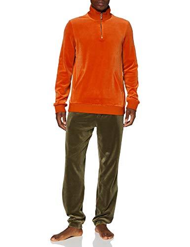 HOM, Homme, Tenue D'Intérieur Zip Court Gregory, Orange Et Vert, M