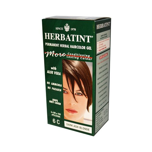 Herbatint 6C Permanent Herbal Dark Ash Blonde Haircolor Gel Kit - 3 per case.