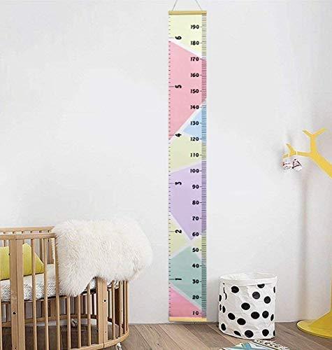 Repuhand Niños Tabla de Crecimiento Niños Medidor de Altura Growth Chart Altura Gráfico Mural de la Pared Para Colgar Reglas Para el Dormitorio de los Niños Guardería Infantil