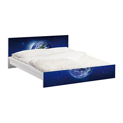 Apalis Möbelfolie für IKEA Malm Bett niedrig 140x200cm Erde im Weltall 77x157cm