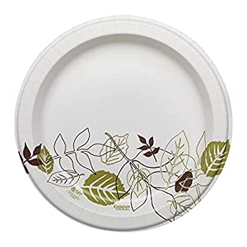 Dixie Ultra 10  Heavy-Weight Paper Plates by GP PRO  Georgia-Pacific  Pathways SXP10PATH 500 Count  125 Plates Per Pack 4 Packs Per Case