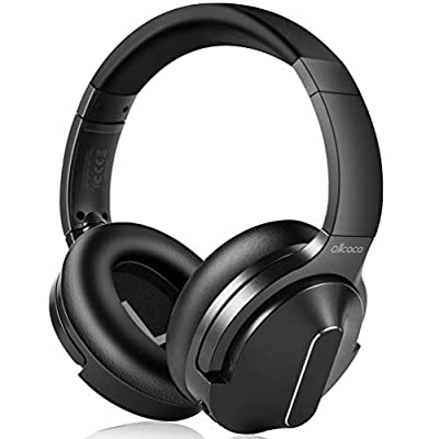 ALLCACA Wireless Headphones Over Ear with Mic Deep Bass 30 Hrs Playtime