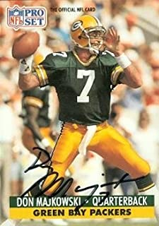 Don Majkowski autographed Football Card (Green Bay Packers) 1991 Pro Set #156 - Football Autographed Rookie Cards