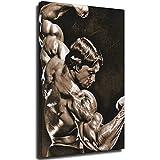 Arnold Schwarzenegger - Póster clásico de posición, lienzo decorativo para pared, diseño de cuadros, 70 x 100 cm