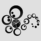 PMSMT acrílico DIY Reloj de Pared Relojes Sala de Estar Moderna decoración del hogarEspejo Pegatina Muebles Pegatinas