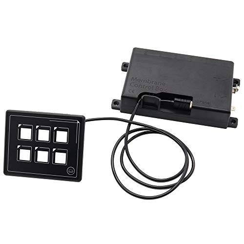 6P KFZ Panel-Schalter mit Hintergrundbeleuchtung Schaltpanel 12V 24V LED-Schalter für Auto Boot RV Wohnmobil Wohnwagen LKW IP66 Wasserdichter Schalter (Nur Panel wasserdichter)