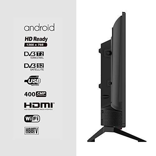 "Television LED 24"" HD Ready INFINITON Smart TV-Android TV (TDT2, HDMI, USB) (24 Pulgadas) miniatura"